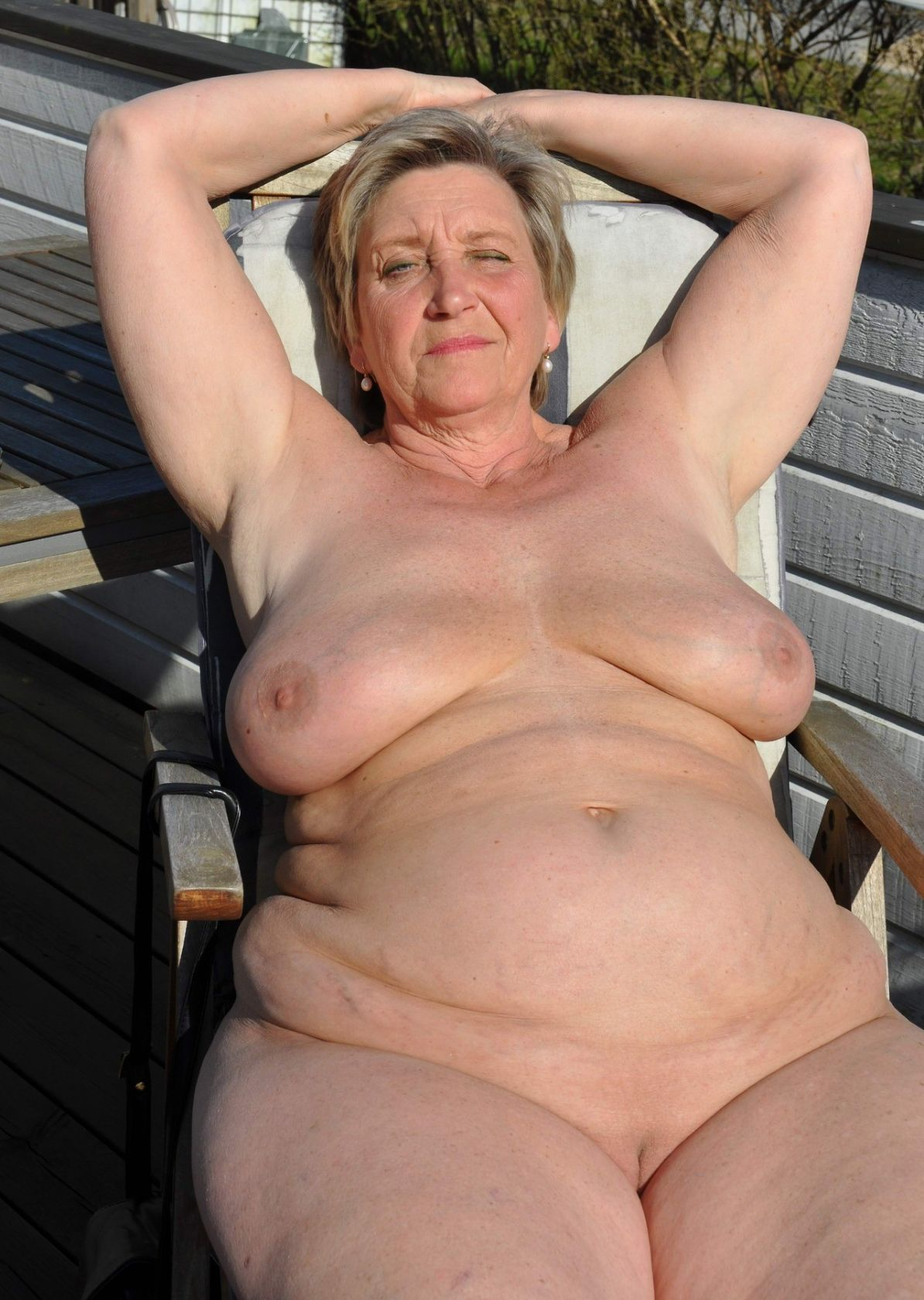 Fat mature old body