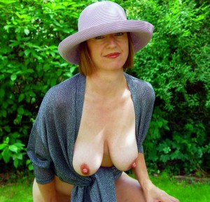 Charlotte a seductive granny still has awesome hot tits for her age
