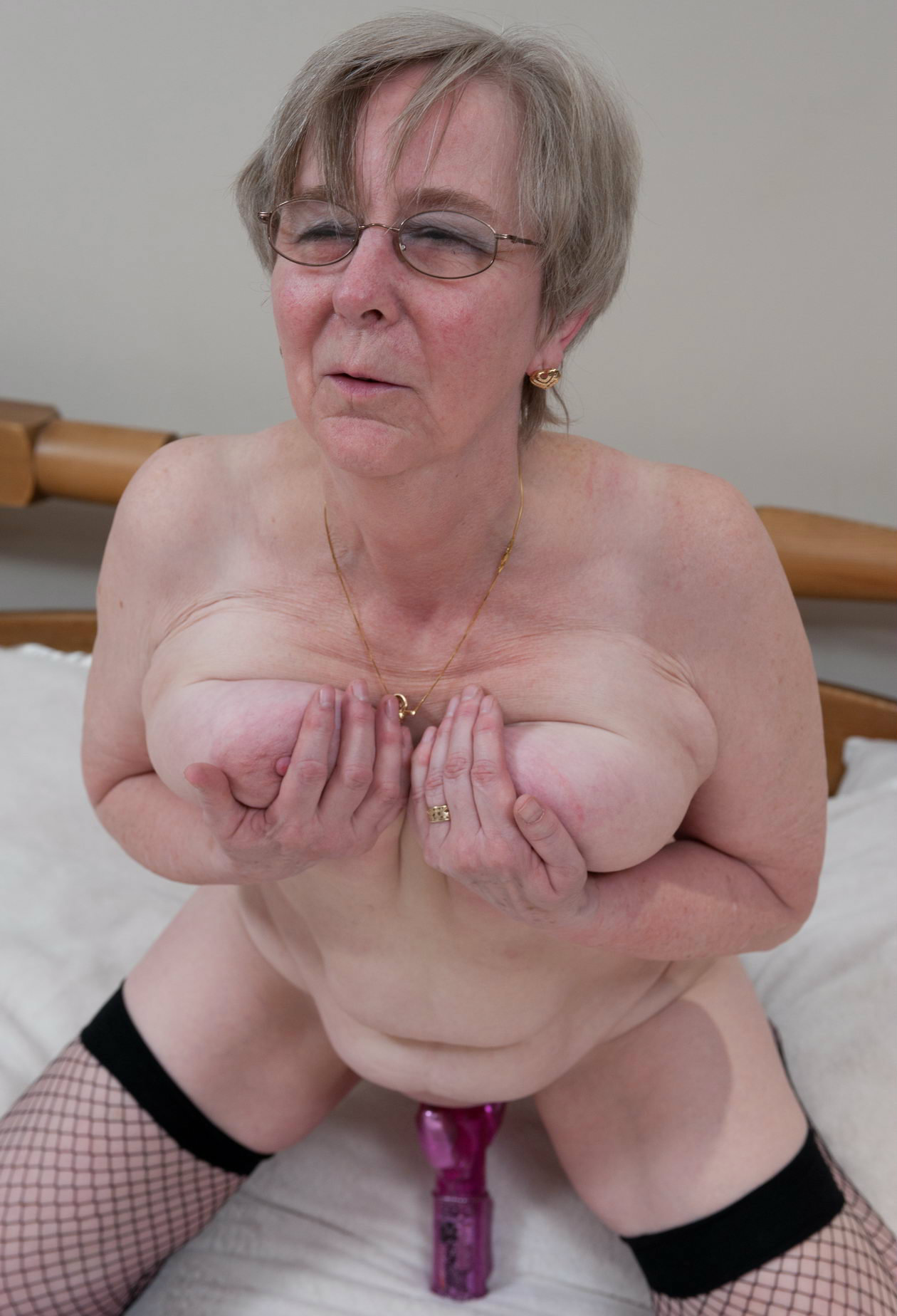 sexy granny  coming close to an orgasm