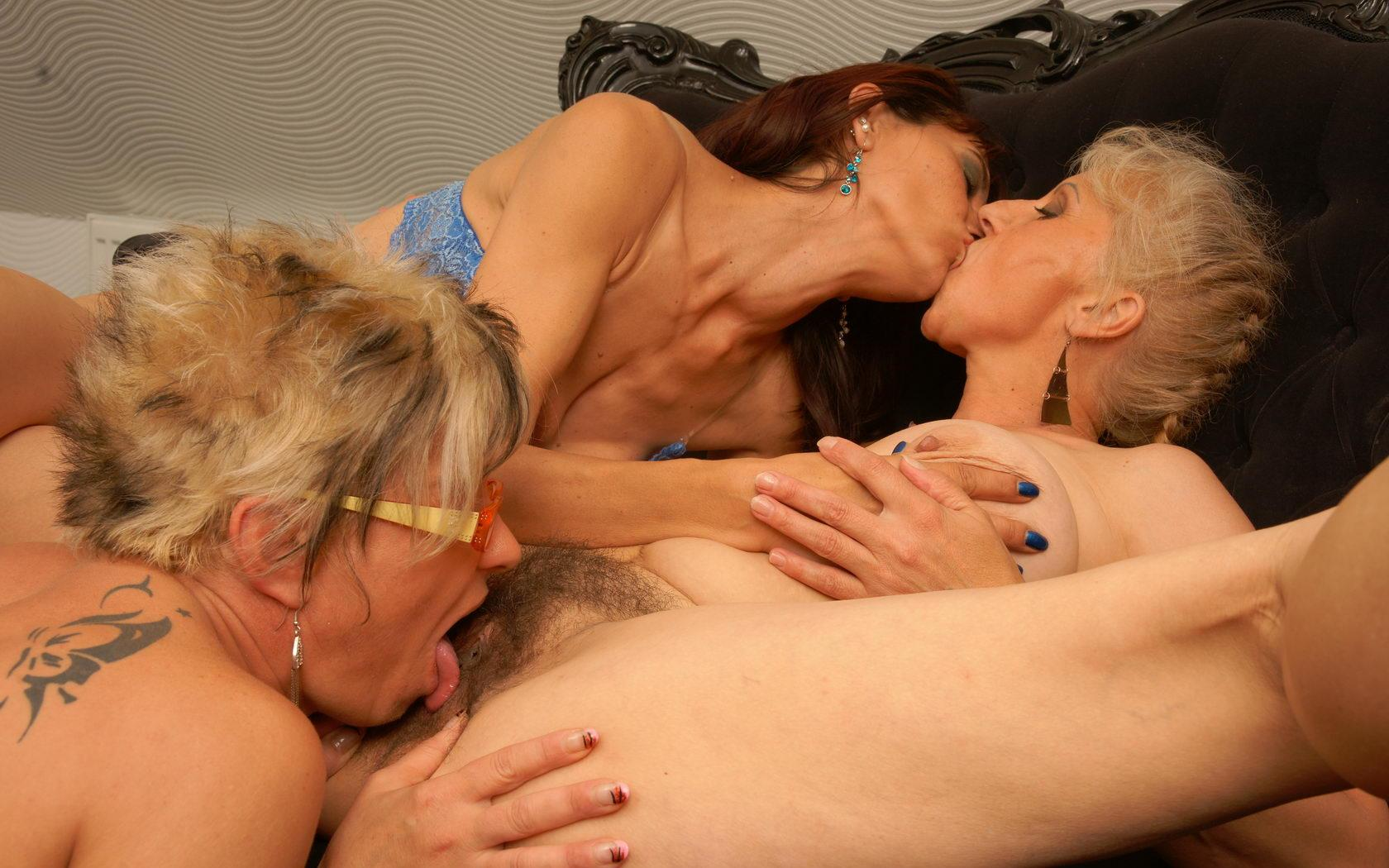 Jane a lustfull granny licking a 70 years old and 18 years old pussy here
