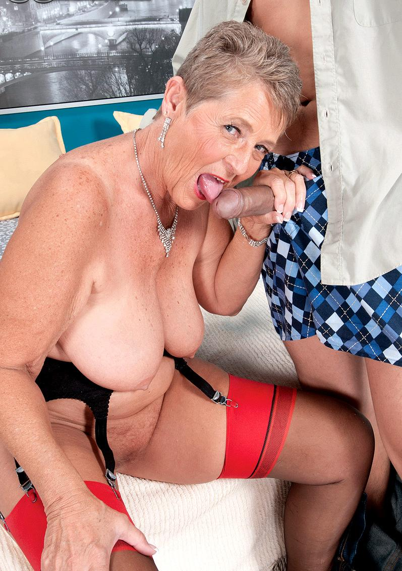 granny mistress enjoys gets fucked naughty in every hole