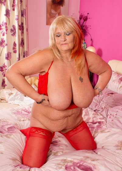 Brittany a grandmother with her hillarious xxxl sized titties here