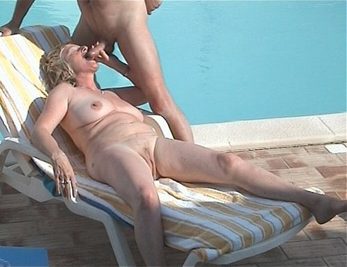 seductive granny  giving a nice blowjob during 2013 vacation