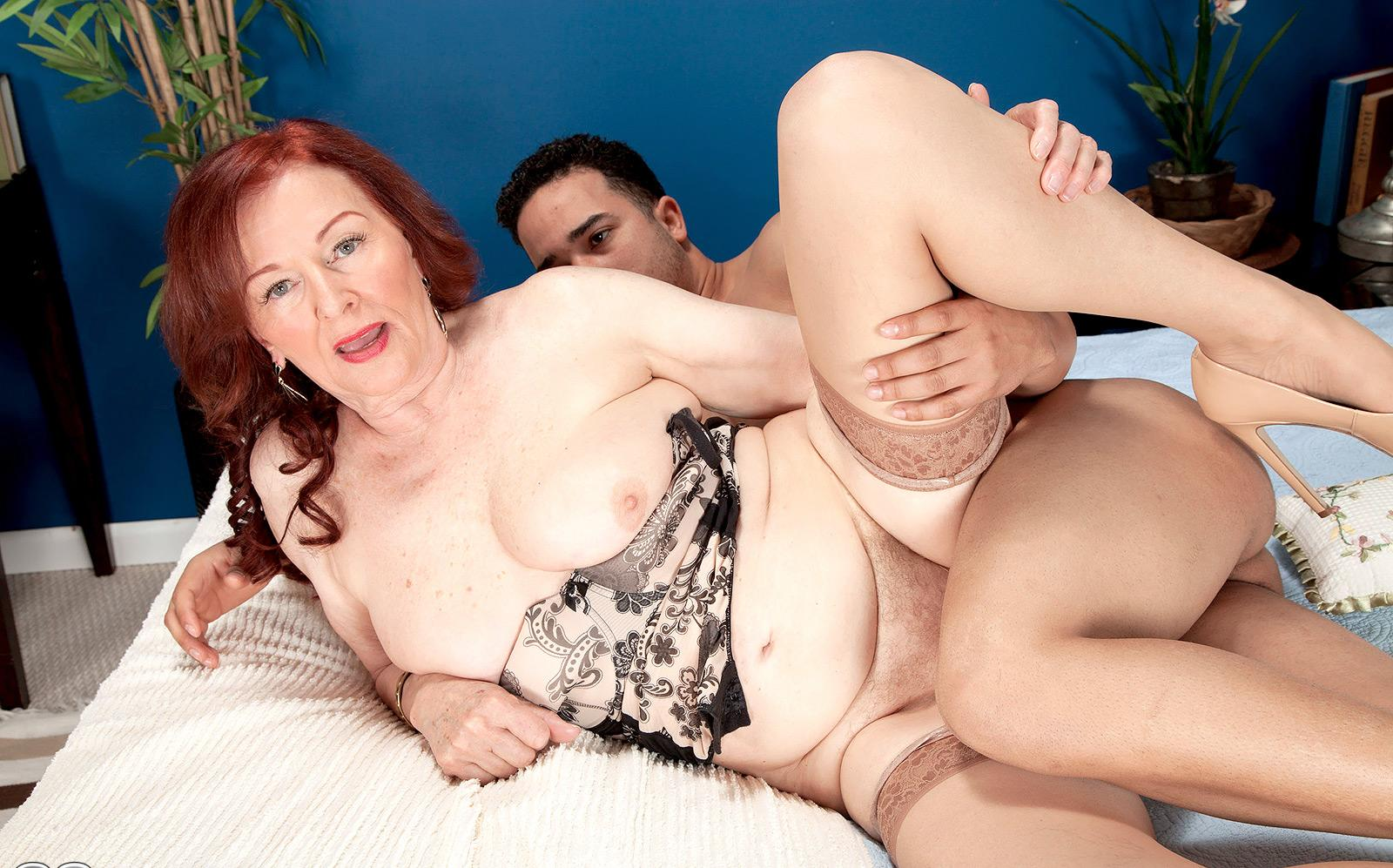 granny mistress is daydreaming about loves hard buttsex