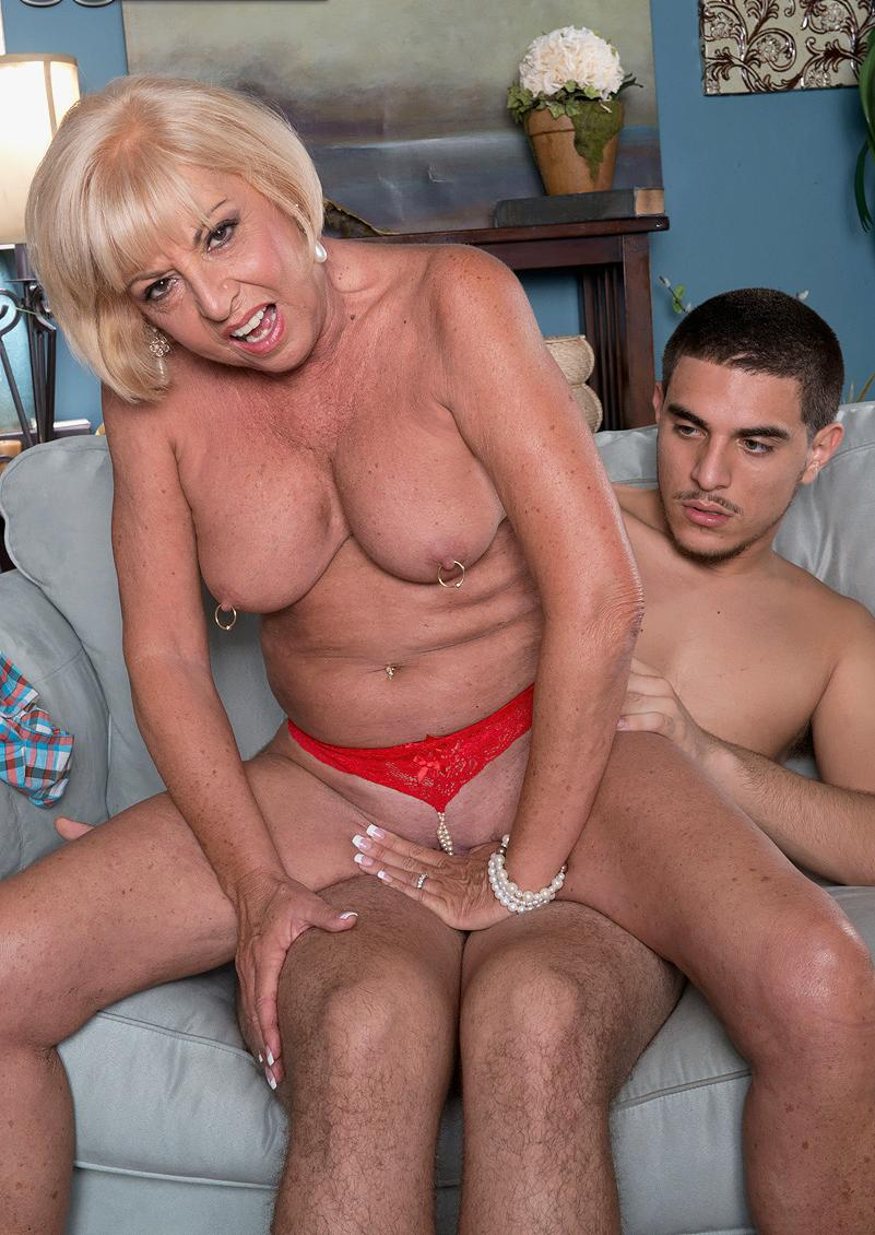 Angela a grandmother loving to have a young penis in her old granny arse