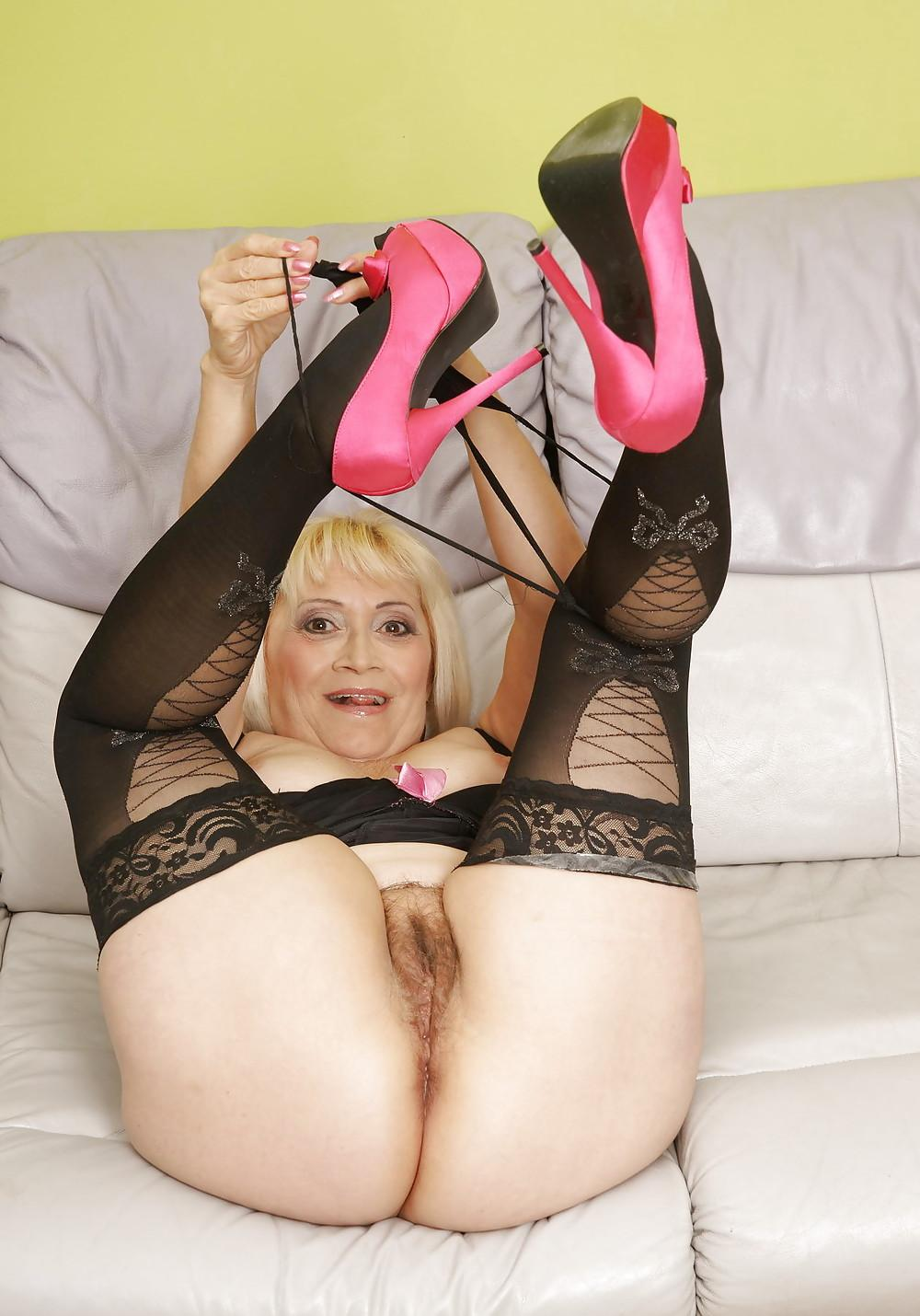 cute lusty granny likes to practise fingering