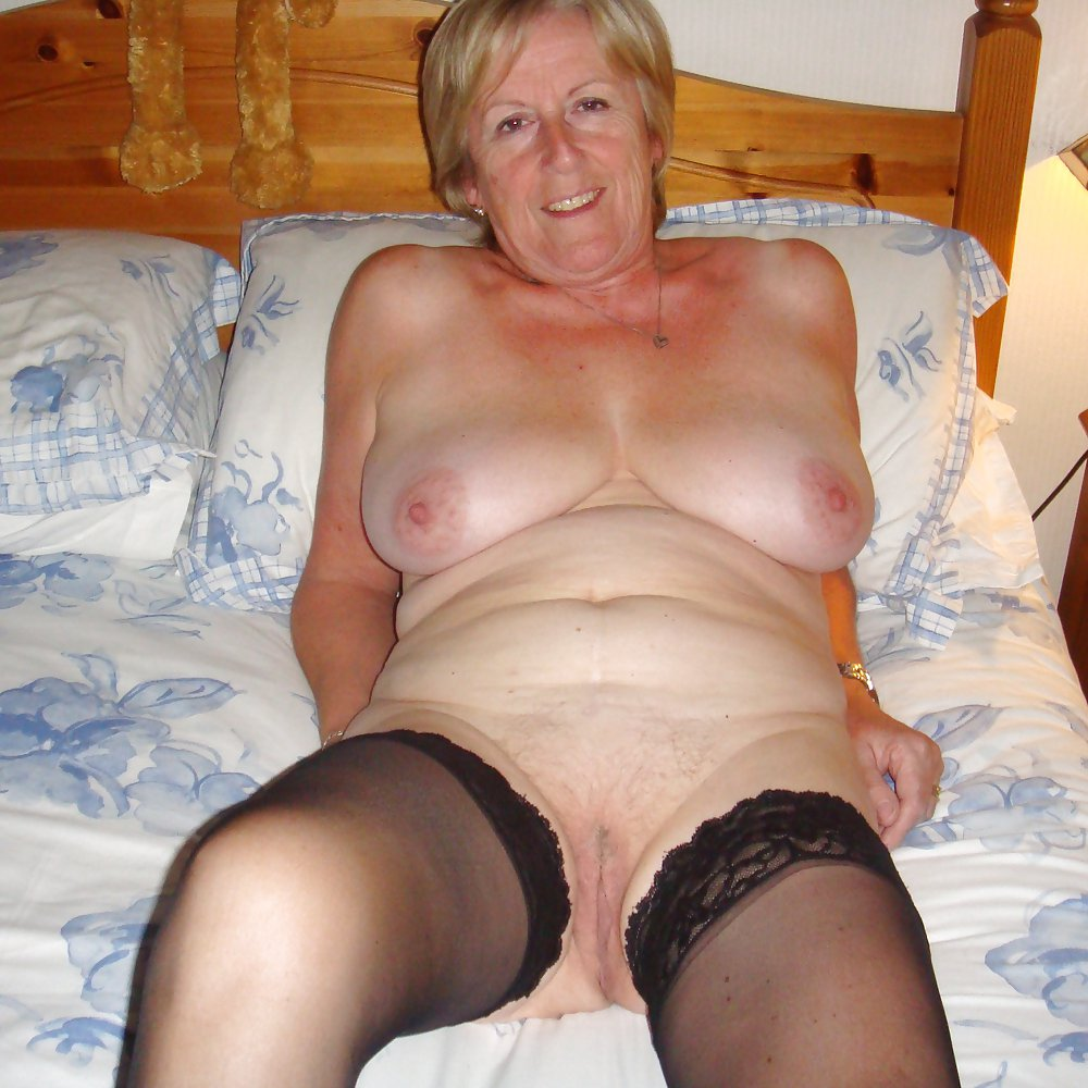 Shannon a 61 old wicked SEDUCTIVE GRANNY wearing sexy hold ups