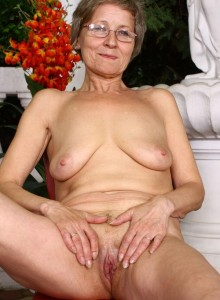 Kailey a 73 old doomed FLASHING GRANNY teasing her old pink
