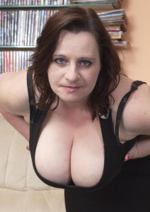 Krystal a 75 old amorous BIG TITTED GRANNY has a great downblouse decoltee