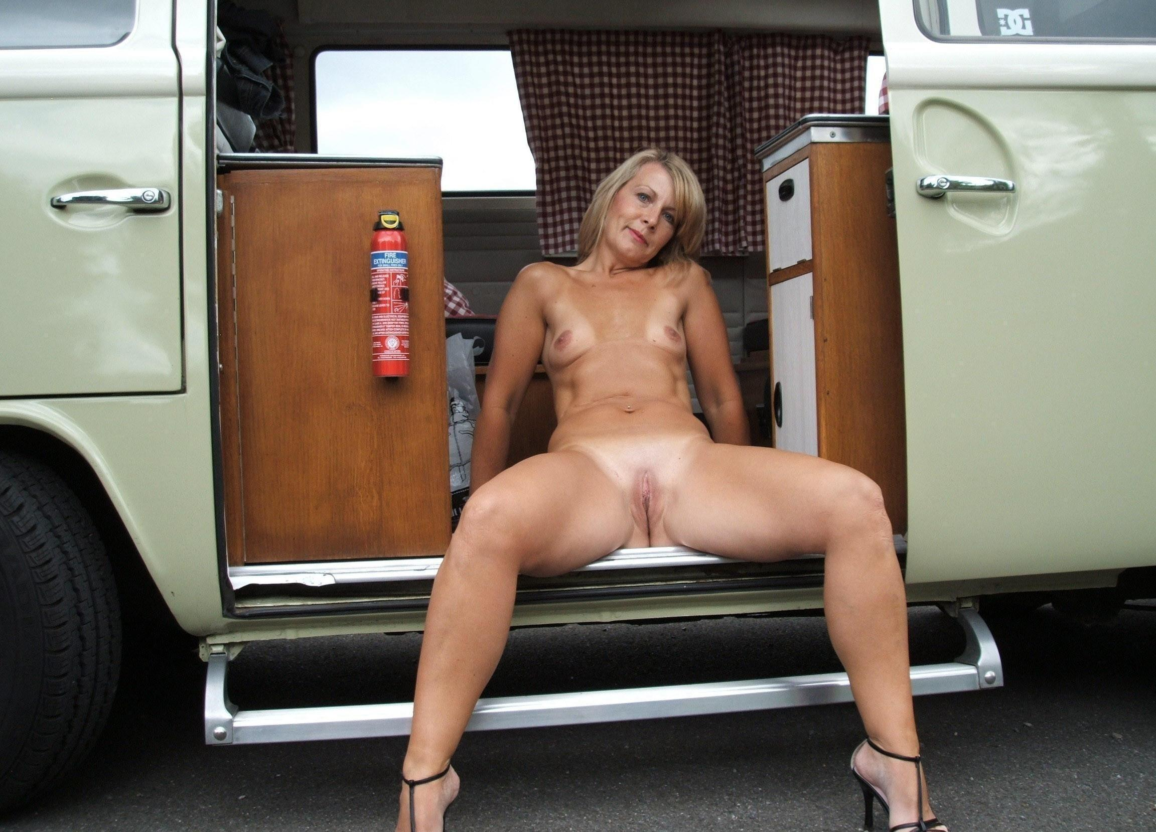 Cristina a 69 old horny HOMEMADE GRANNY having fun during her camping hollidays