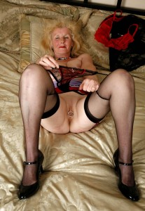 Madeline a 73 old sweet HOMEMADE GRANNY has a pierced old pussy