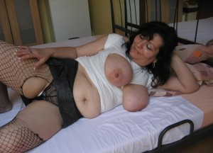 Cristina a 63 old sexy BIG TITTED GRANNY has beautyful hard melons