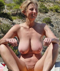 Megan a 67 old nice BIG TITTED GRANNY with wonderfull hard solid tits near the beach