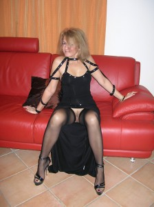 April a 66 old kind-hearted FLASHING GRANNY teasing upskirts with no panties and cute hold ups