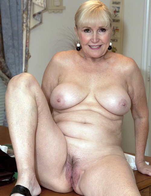 Sylvia a 63 old debauched HOMEMADE GRANNY has a small bush and lil hair on her twat