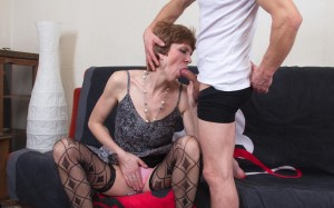 Britney a 66 old friendly COCKSUCKING GRANNIES giving her stepsun a nice soft blowjob