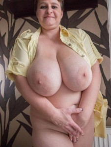 Tara a 64 old tainted BBW GRANNY close to worlds biggest granny tits