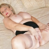 granny spreads her old bold pussy #1