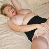 granny spreads her old bold pussy #7