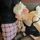 old granny pussy exploited in hotel room #9
