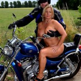 adorable biker mom riding nude on a harley with her younger lover #8