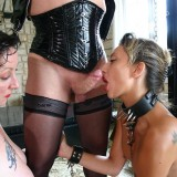 bdsm granny abusing stepdaughter to eat her old pussy #7