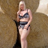 horny mature mom shows her genitals at the countryside #8