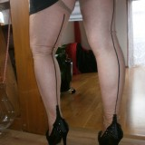kinky old german mature in nylons  #3