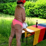 sexy german granny at a nudist camp #6