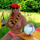 sexy german granny at a nudist camp #1