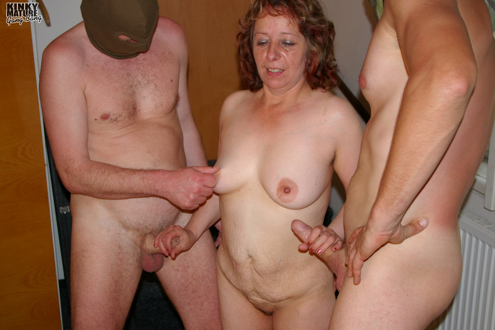 Hot white wife ganged 8