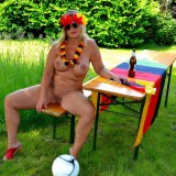 sexy german granny at a nudist camp #9