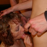 old hot oma granny gangbanged by three young guys #4