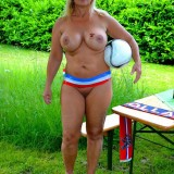 sexy german granny at a nudist camp #5