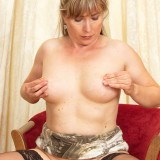 lustfull granny cheating with a dildo #7