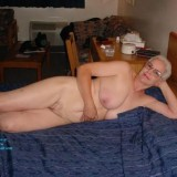 70 years old hottie granny posing on her bed #1