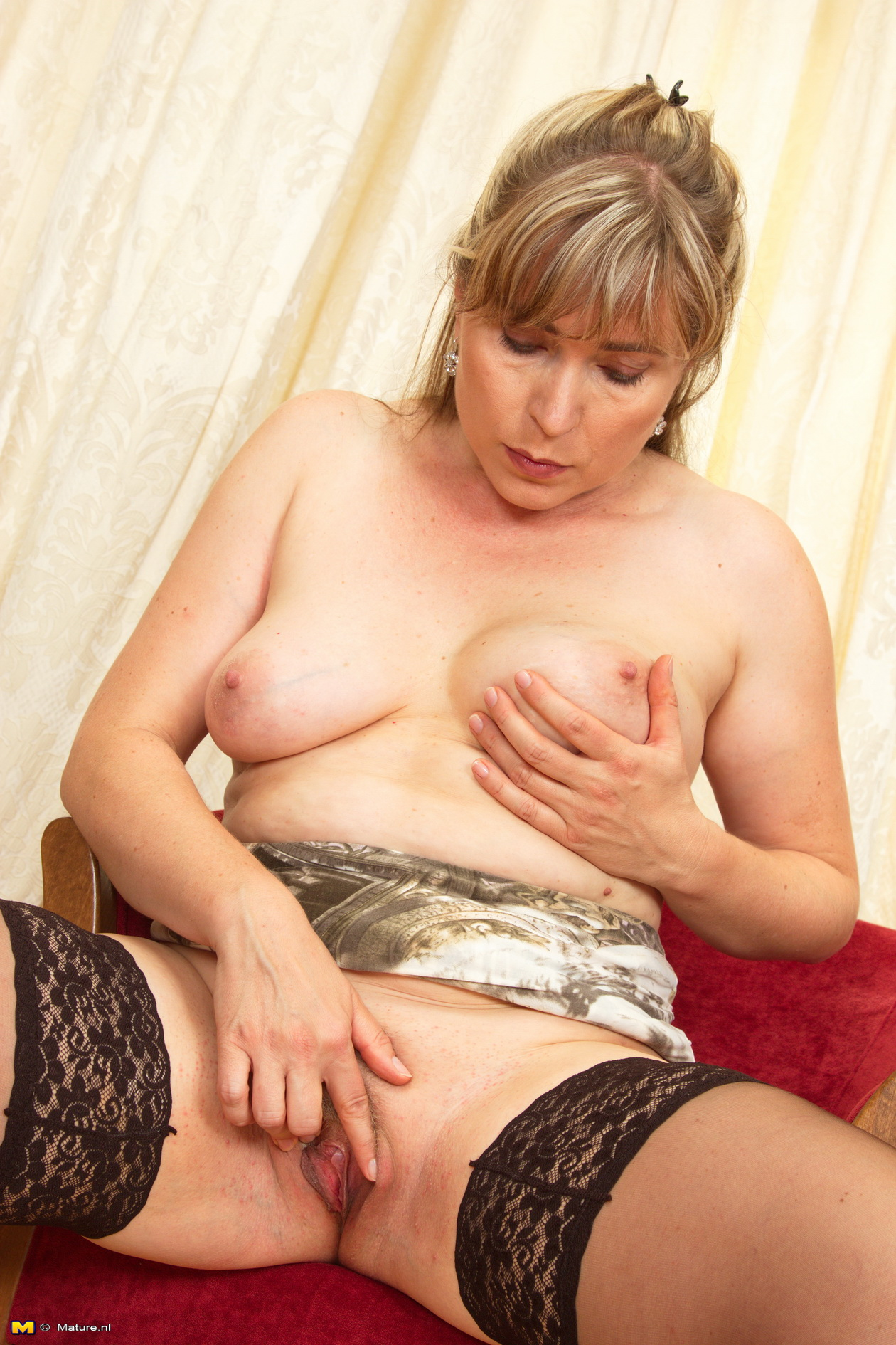 lustfull granny cheating with a dildo