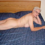 70 years old hottie granny posing on her bed #3