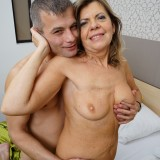 mature woman is dating younger guy in a hotel room for sex #5