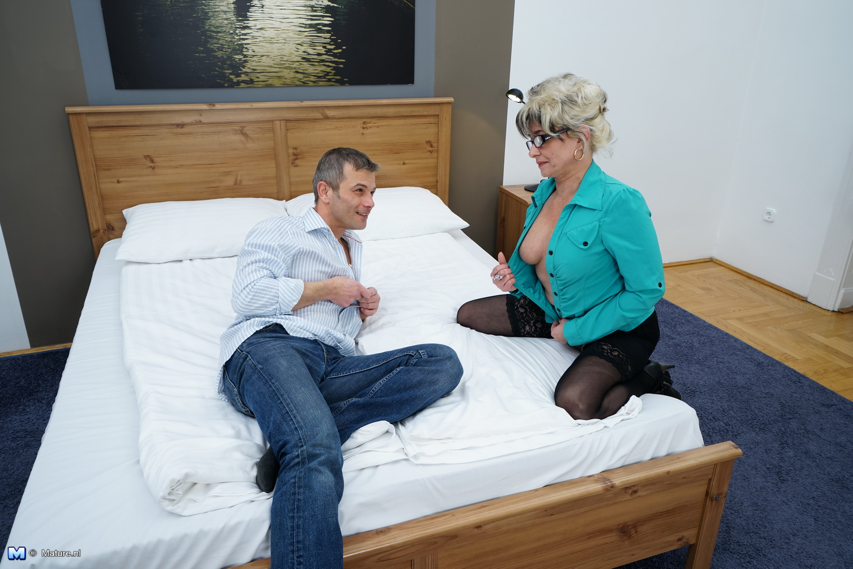bored granny involved in filthy sex date with her stepson
