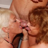 hot reverse gangbang with 70 years old granny  #1