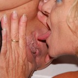 hot reverse gangbang with 70 years old granny  #8