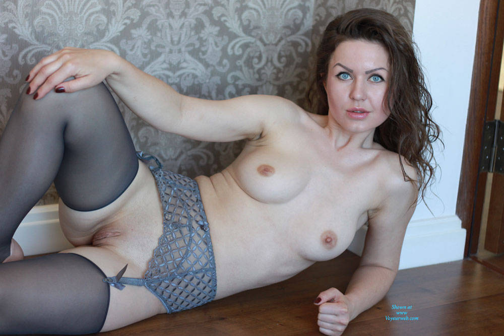 cute mature in stockings