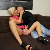 blonde skinny granny  #7