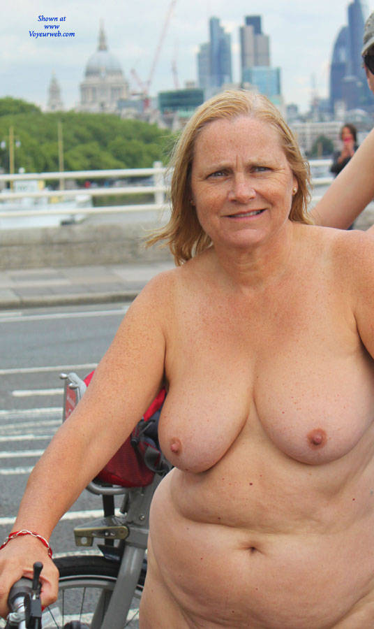 granny naked on bike #1