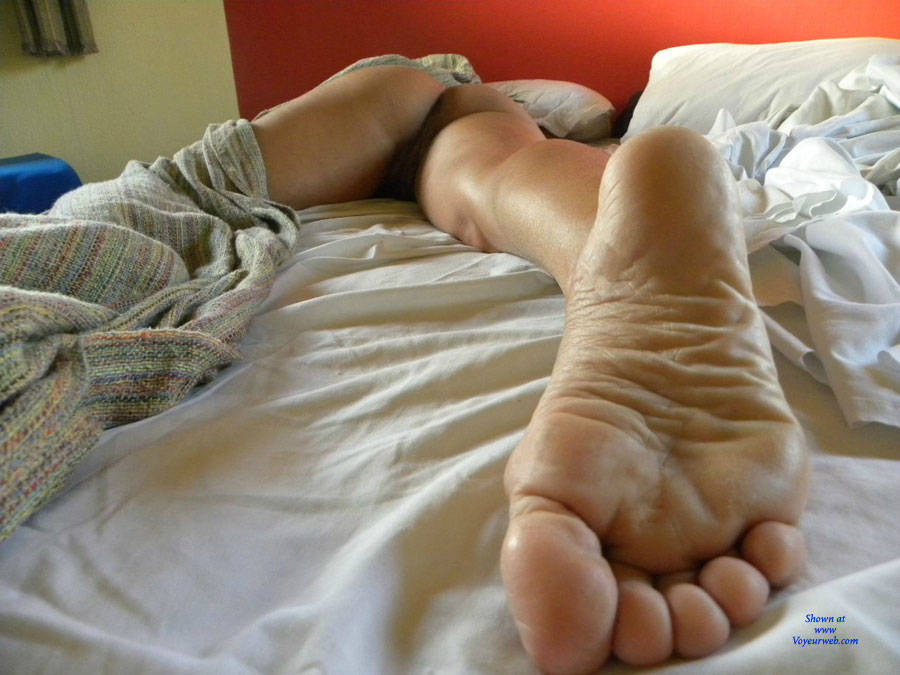 Naked sleeping granny fotographed by her stepsun