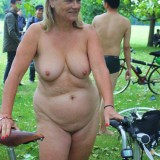 granny naked on bike #3_thumb