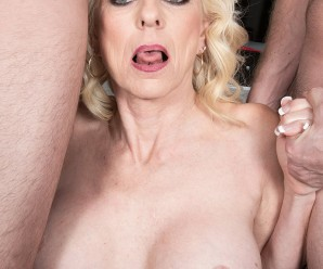 mature swinger whore nursing two young studs –  anally and orally creampied
