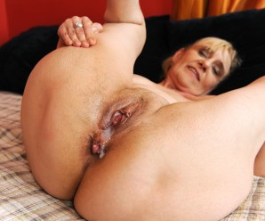 sportive fuck with flexible agile lusty 70 years old grandmom [big wet creampie inside]
