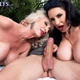 Pornstar granny Rita Daniels jerking off a 28years old guy  #12_thumb